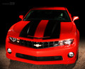 2010 2011 2012 2013 Chevy Camaro Rally Racing Wide Stripes Hood & Trunk Decals