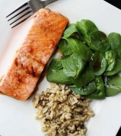 Chia Soy Glazed Salmon