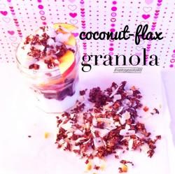 coconut flax granola