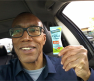 Michael is always on the go and he always has his Flax Paks with him…even in the car!  Keep movin' and groovin', Michael!