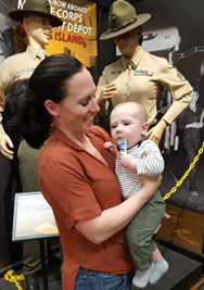 Captain Amanda Mathew (USMC) and her son Kai travel with Carrington Farms Milled Flax Paks even when visiting the US Marine Corps Parris Island Museum in South Carolina!!