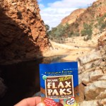 Flax Paks travel with Jesse to the Glen Helen Gorge in Australia.