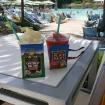 Jen knows the best way to enjoy a drink at the pool is with Paks!