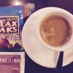 Alicia brings Flax Paks to El Zaguan cafe in Ibiza.