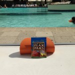 Sandy relaxing with her Flax Pak in Florida