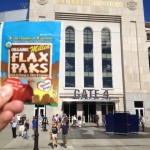 Allison and her flax pak at Yankee Stadium