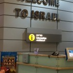 Greg arriving in Israel with his Flax Pak