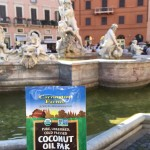 A Coconut Oil Pak and Janet enjoy the Piazza Navona in Rome
