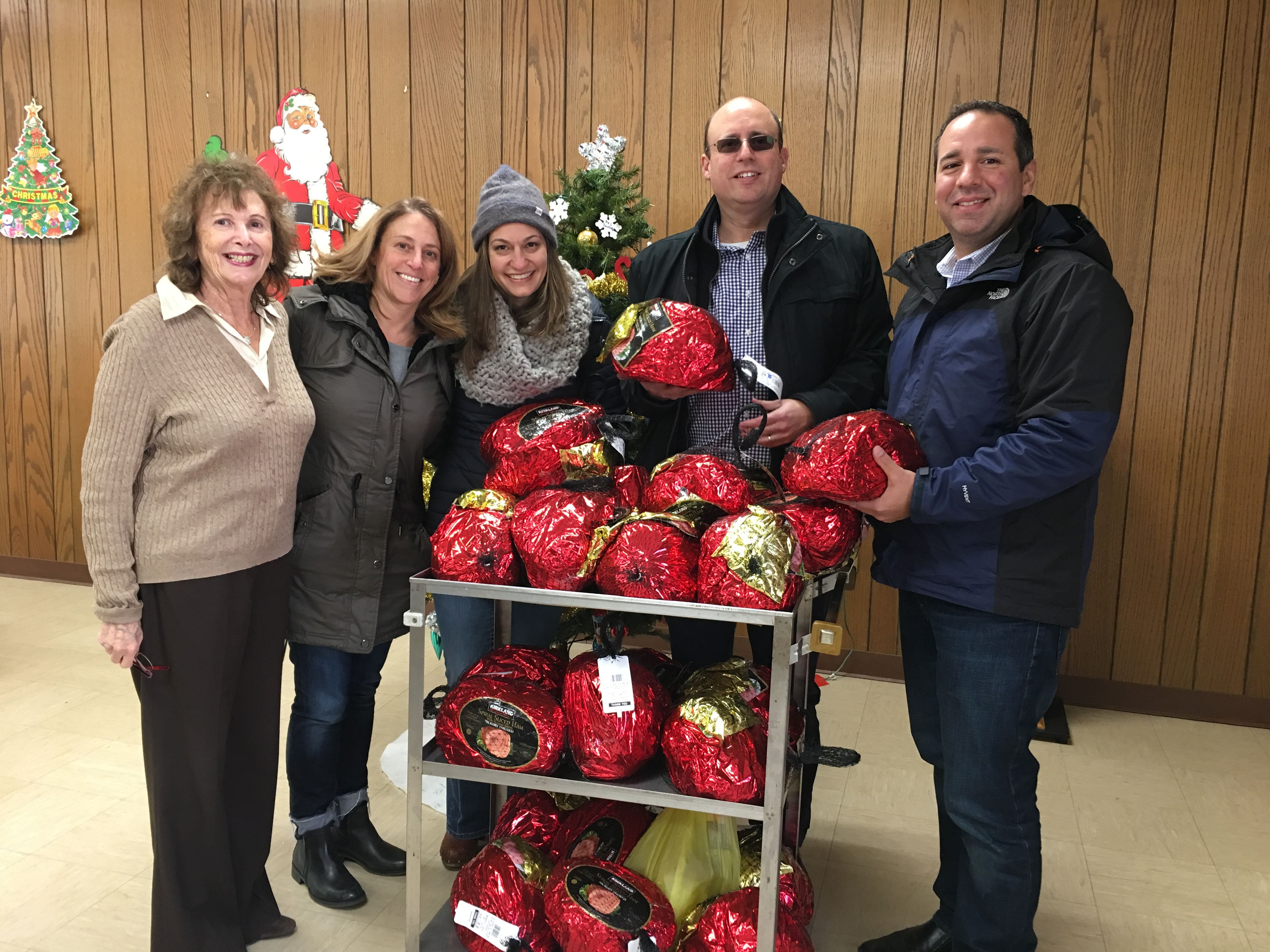 Christmas 2016 Carrington Farms donated 25 hams to the Closter Food Pantry