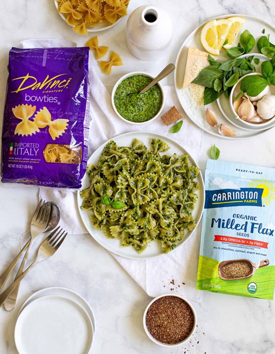 Flax Pesto Pasta