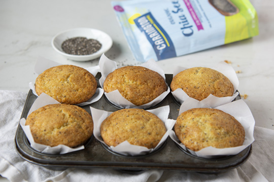 Lemon Chia Muffins By Karen