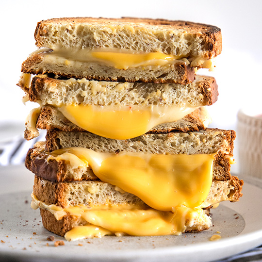 Ultimate 4-Cheese Grilled Cheese Sandwich