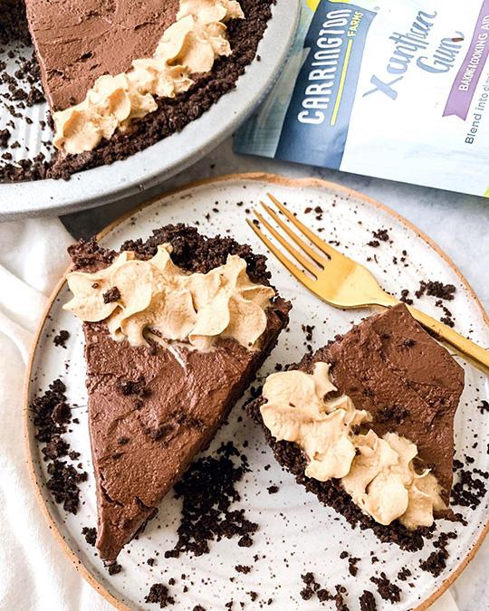 Hot Chocolate No Bake Pie
