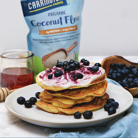 Keto Blueberry Cheesecake Pancakes