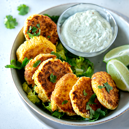 Crispy Lupin Fritters