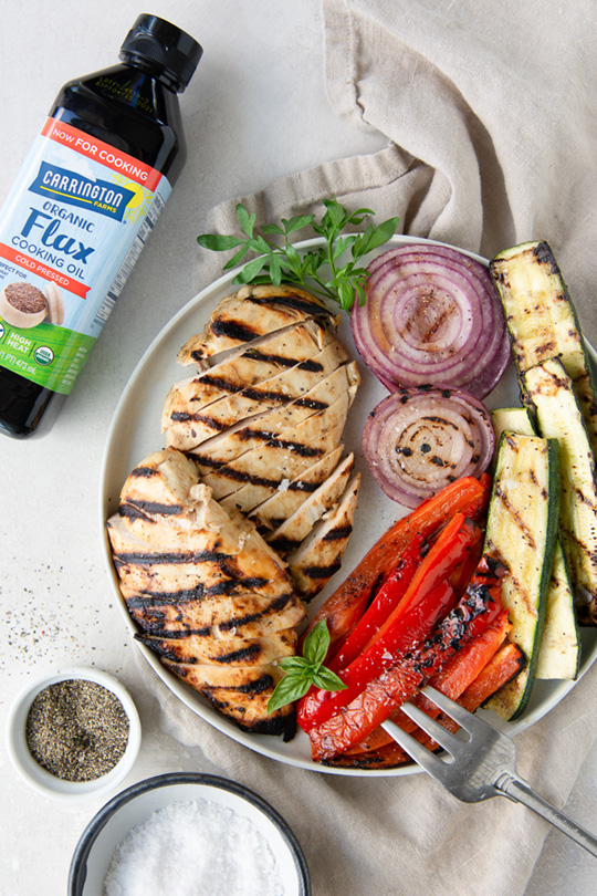 Simply Delicious Flax Oil Marinated Chicken