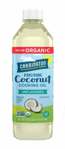ORGANIC Coconut Cooking Oil, Unflavored