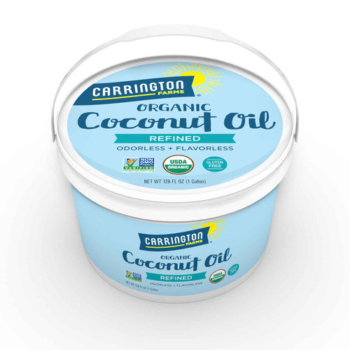 Organic Coconut Oil, Refined, 1 Gallon