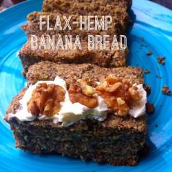 Flax-Hemp Banana Bread