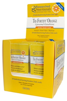 Researched Nutritionals, Tri-Fortify Orange (20 Pack) Liposomal Glutathione (GSH)