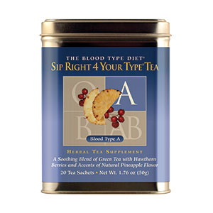 D'Adamo Nutrition, Sip Right 4 Your Type Teas (20 Tea Bags)