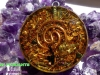 Orgone Pendant, Deep Purple Crogone Pendant with Natural Shell