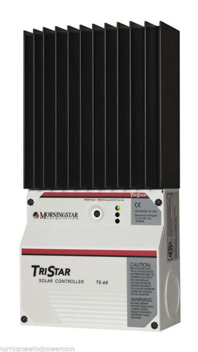 Morningstar TS-60 TriStar-60 amp 12/24/48 volt Solar Charge Controller without Display