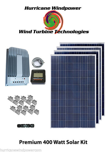 Hurricane Wind Power 400 Watt MPPT Solar Off Grid Emergency Solar Panel Kit