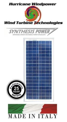 Hurricane Wind Power 30 Watt Solar Panel Poly crystalline Off grid Boat and RV Synthesis Solar