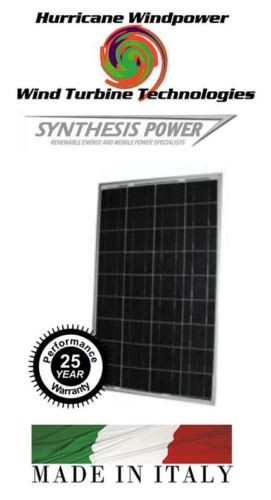 Hurricane Wind Power 85 Watt Solar Panel Poly Crystalline Off Grid Boat and RV Synthesis Solar