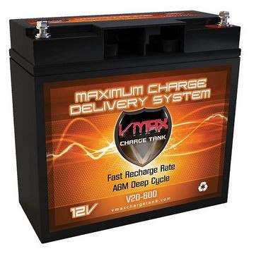 VMAX Charge Tank V20-600 Deep Cycle, High performance AGM Battery