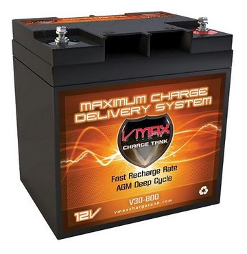 VMAX Charge Tank V30-800 Deep Cycle, High performance AGM Battery