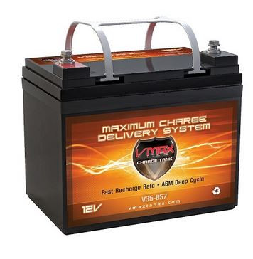 VMAX Charge Tank V35-857 Deep Cycle, High performance AGM Battery