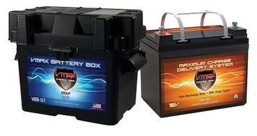 VMAX charhe Tank V35-857 + U1 Box Deep Cycle, High performance AGM Battery