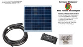 Solar Panel Starter Kit 50 Watt 12V PV Off Grid Kit for RV Boat Charge Control - Hurricane Wind Power