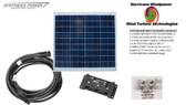 Solar Panel Starter Kit 80 Watt 12V PV Off Grid Kit for RV Boat Charge Control - Hurricane Wind Power