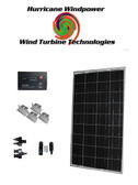 Hurricane Wind Power 100W Watts 12V Poly-Crystalline Solar Panel Off Grid Kit RV Boat DIY