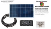 Solar Panel Starter Kit 100 Watt 12V PV Off Grid Kit for RV Boat Charge Control