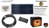 Solar Panel Kit 30 Watt 12V PV Off Grid for RV Boat w Charge Control & Battery- Hurricane Wind Power
