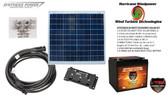 Solar Panel Kit 50 Watt 12V PV Off Grid Kit for RV Boat Charge Control & Battery - Hurricane Wind Power