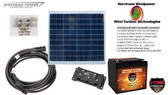 Solar Panel Kit 80 Watt 12V PV Off Grid Kit for RV Boat Charge Control & Battery - Hurricane Wind Power