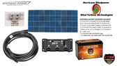Solar Panel Kit 130 Watt 12V PV Off Grid for RV Boat Charge Control & Battery - Hurricane Wind Power