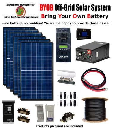 BYOB Off-Grid 1740W 24V Solar Panel Kit Tiny House Cabin PV System Outback FM80