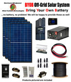 BYOB Off-Grid 1.1KW 12V Solar Panel Kit Tiny House PV System Midnite Classic 150 w/ 2200 Watt 12V Inverter/Charger