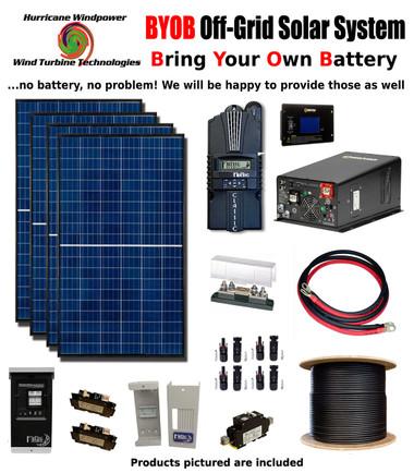 BYOB Off-Grid 1.1KW 12V Solar Panel Kit Tiny House PV System Midnite Classic 150 w/ 3300 Watt 12V Inverter/Charger