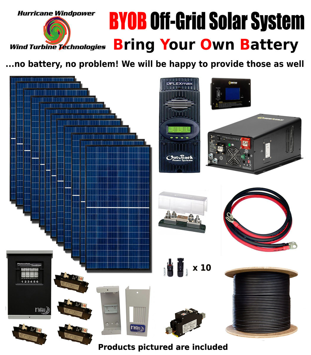 Byob Off Grid 34kw 48v Solar Panel Kit Tiny House Cabin Pv System Electrical Wiring Outback Fm80