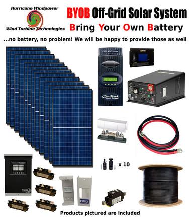 BYOB Off-Grid 3.4KW 48V Solar Panel Kit Tiny House Cabin PV System Outback FM80