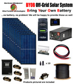 BYOB Off-Grid 3.4KW 48V Solar Panel Kit Tiny House Cabin PV System Outback FM80