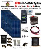 BYOB Grid-Tied 3.4KW 48V Solar Panel Kit Tiny House Cabin PV System Outback FM80