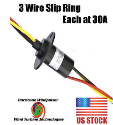 WIND GENERATOR SLIP RING 3 WIRE 180 AMP